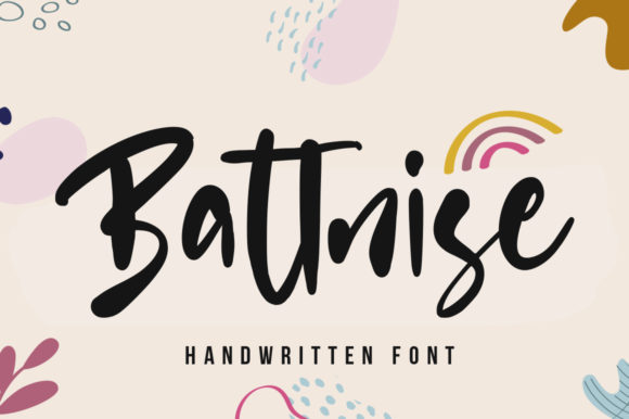 Print on Demand: Battnise Script & Handwritten Font By vultype