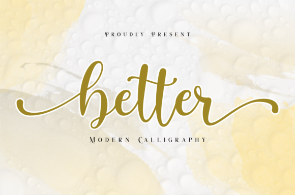 Print on Demand: Better Script & Handwritten Font By nailetter