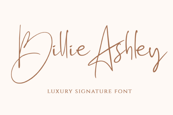 Print on Demand: Billie Ashley Script & Handwritten Font By Mozarella