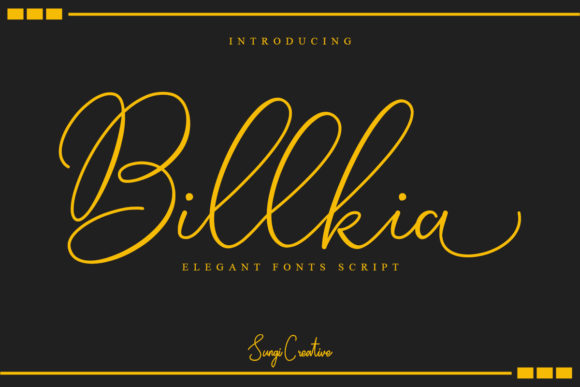 Print on Demand: Billkia Script & Handwritten Font By SungiCreative