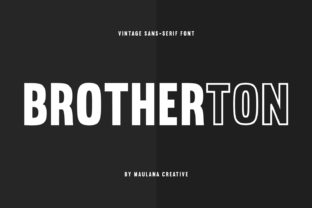 Print on Demand: Brotherton Sans Serif Font By Maulana Creative