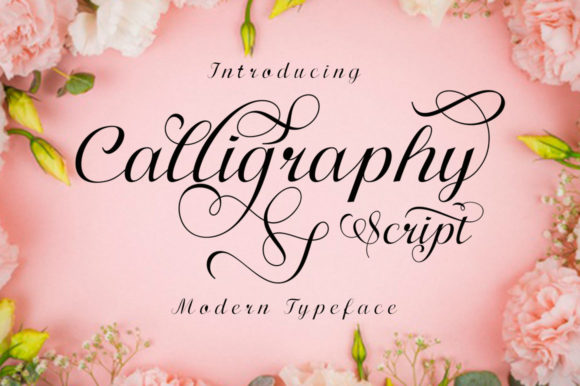 Print on Demand: Calligraphy Script Manuscrita Fuente Por Shape Studio