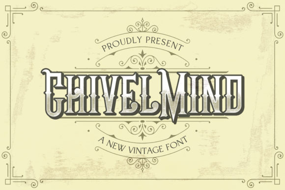 Print on Demand: Chivel Mind Display Font By StringLabs