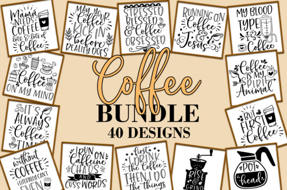 Print on Demand: Coffee Bundle Gráfico Crafts Por freelingdesignhouse