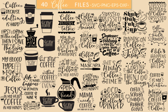 Print on Demand: Coffee Bundle Graphic Crafts By freelingdesignhouse - Image 2