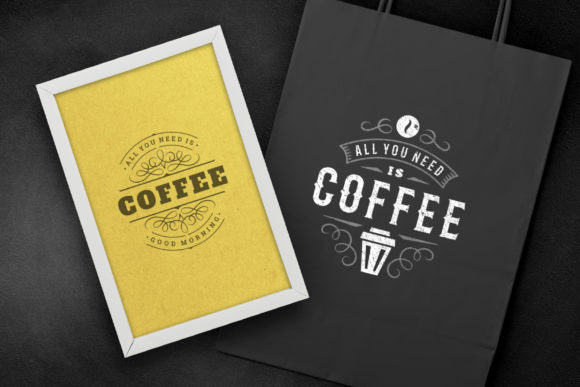 Coffee Quotes and Phrases Set Graphic Logos By vasyako1984 - Image 4