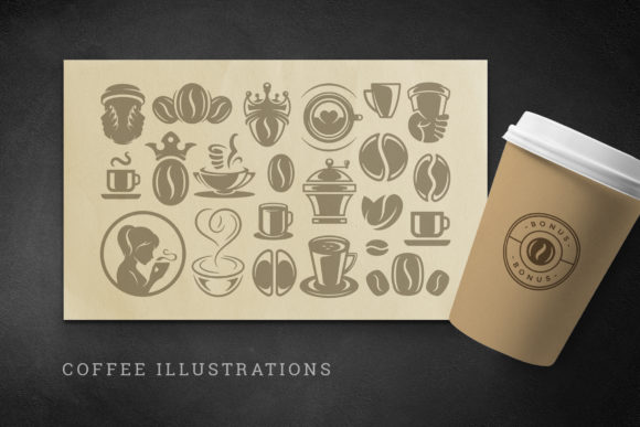Coffee Quotes and Phrases Set Graphic Logos By vasyako1984 - Image 6