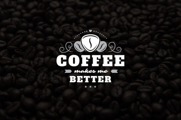 Coffee Quotes and Phrases Set Graphic Logos By vasyako1984 - Image 7