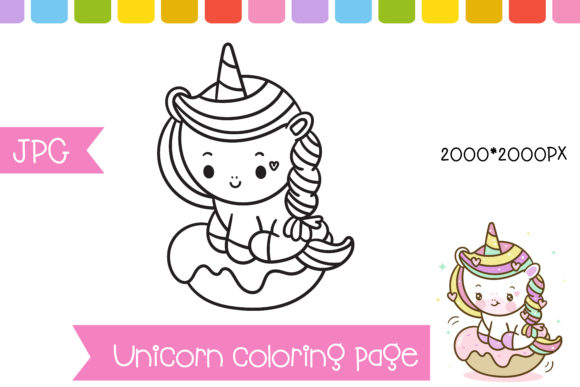 Coloring Unicorn Cupcake Page Preschool Graphic Coloring Pages & Books Kids By vividdiy8