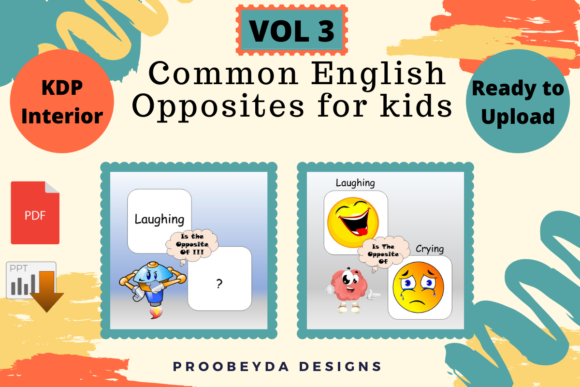 Common English Opposites for Kids Vol 3 Graphic Download