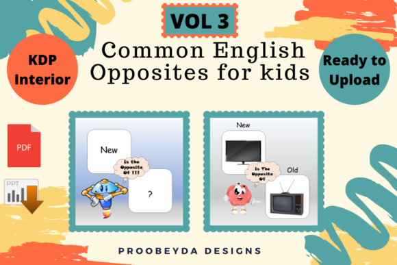 Common English Opposites for Kids Vol 3 Graphic Item