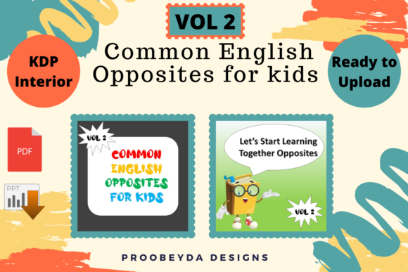 Print on Demand: Common English Opposites for Kids Vol.2 Graphic 1st grade By Proobeyda - Image 1
