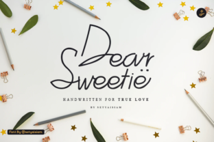 Print on Demand: Dear Sweetie Script & Handwritten Font By setyaisiam