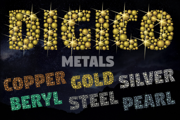 Print on Demand: Digico Metals Color Fonts Font By glukfonts - Image 1