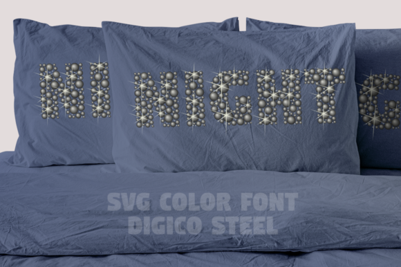 Print on Demand: Digico Metals Color Fonts Font By glukfonts - Image 10