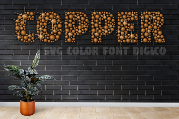 Print on Demand: Digico Metals Color Fonts Font By glukfonts - Image 4