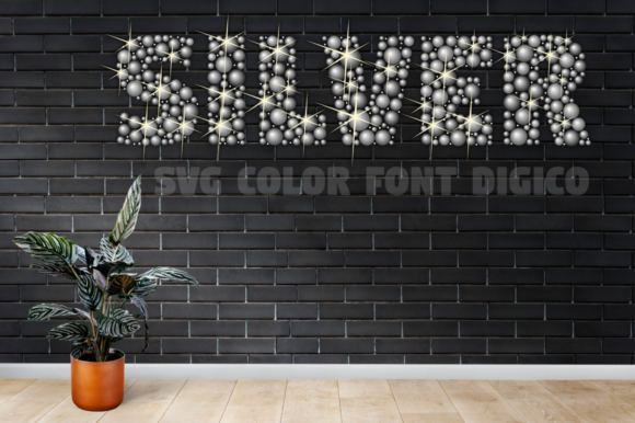 Print on Demand: Digico Metals Color Fonts Font By glukfonts - Image 7