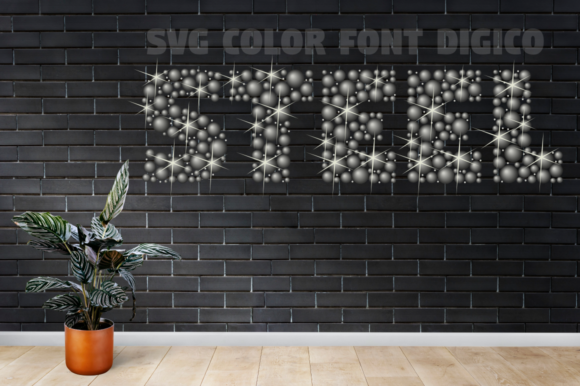 Print on Demand: Digico Metals Color Fonts Font By glukfonts - Image 9