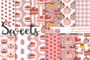 Digital Paper Sweets Graphic Patterns By Sweet Shop Design