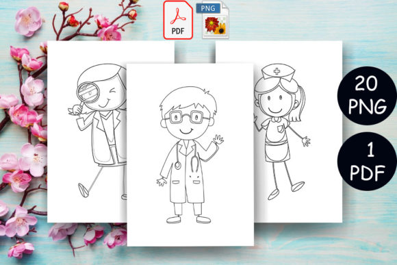 Print on Demand: Doctor Coloring Page Kids | KDP Graphic Coloring Pages & Books By Sei Ripan