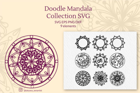 Doodle Mandalas Zentangle Cut Files Graphic Crafts By Tatyana_Zenartist