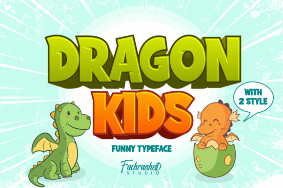 Print on Demand: Dragon Kids Display Font By fachranheit