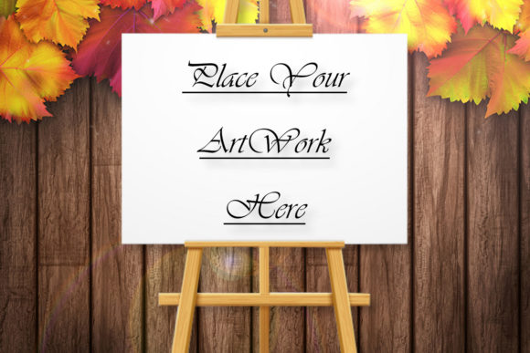 Drawing Easel Mockup, Leaves, Autumn Graphic Product Mockups By Mockup Shop