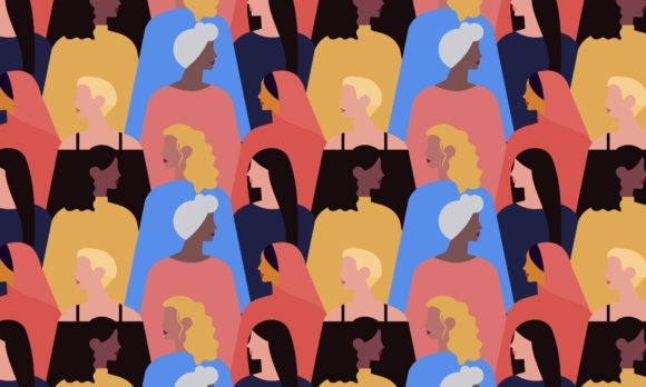 Female Diverse Faces Different Ethnicity Graphic Logos By 2qnah