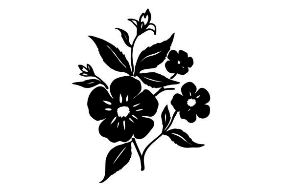 Print on Demand: Flower Silhouette for Crafting Graphic Crafts By Girinesia
