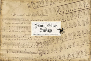 Print on Demand: French Music Overlays Graphic Textures By Digital Curio
