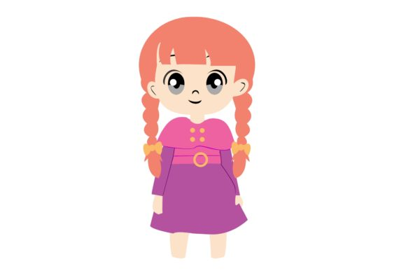 Girl Chibi Character Vector 30 Graphic Illustrations By harunikaart