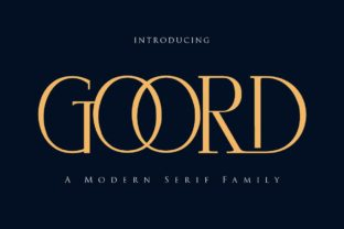 Print on Demand: Goord Serif Font By Gilar Studio