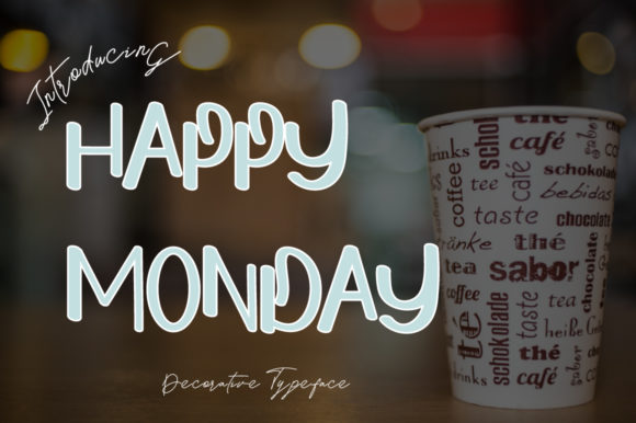 Print on Demand: Happy Monday Display Font By iblfz