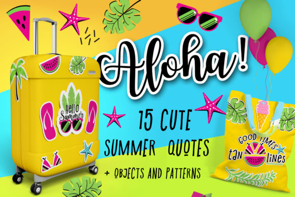 Hello Summer Quotes Graphic Illustrations By Peliken
