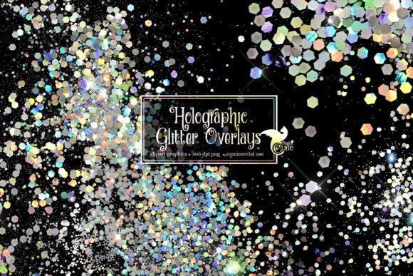 Print on Demand: Holographic Glitter Overlays Graphic Textures By Digital Curio