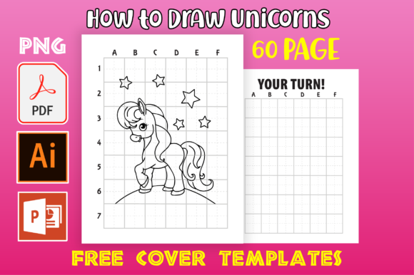 Print on Demand: How to Draw Unicorn | KDP Interior Gráfico Páginas KDP Por MK DESIGNS
