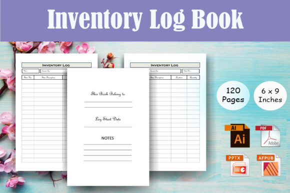 Print on Demand: Inventory Logbook Tracker - KDP Interior Graphic KDP Interiors By Sei Ripan