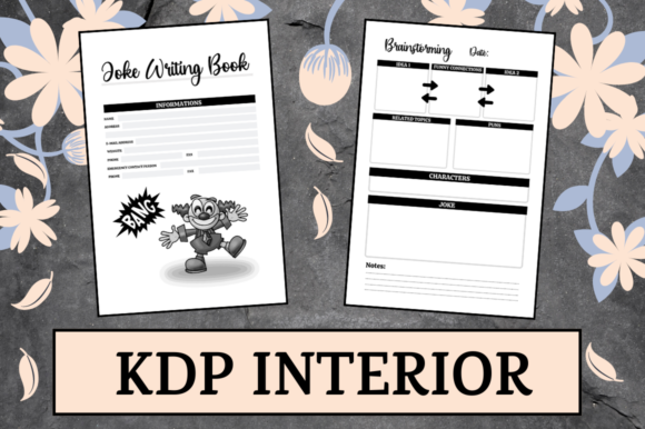 Print on Demand: Joke Writing Book | KDP Interior Graphic KDP Interiors By Hungry Puppy Studio