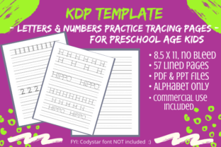 Print on Demand: Kids Letters & Numbers Handwriting Pages Graphic KDP Interiors By Tomboy Designs