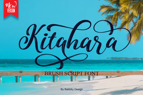 Print on Demand: Kitahara Script & Handwritten Font By Balibilly Design
