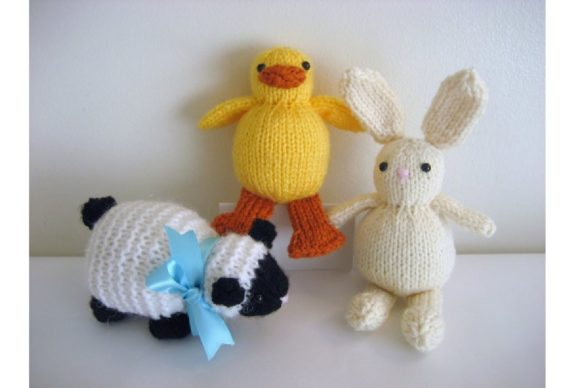 Knit Easter Trio Pattern Graphic Knitting Patterns By Amy Gaines Amigurumi Patterns - Image 1