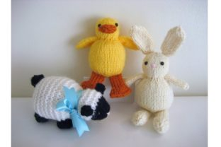 Knit Easter Trio Pattern Graphic Knitting Patterns By Amy Gaines Amigurumi Patterns