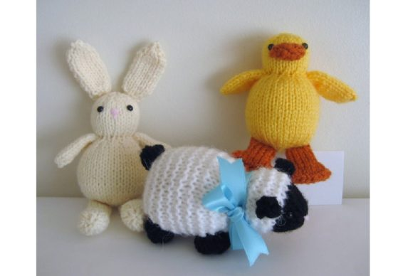 Knit Easter Trio Pattern Graphic Knitting Patterns By Amy Gaines Amigurumi Patterns - Image 2