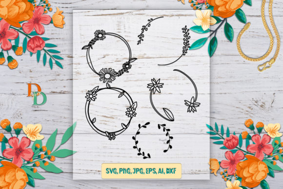 Laurel Wreath Bundle Graphic 3D Shapes By denysdigitalshop