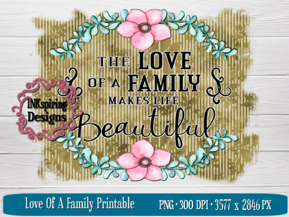 Print on Demand: Love of a Family Sublimation Design Graphic Illustrations By INKspiring Designs