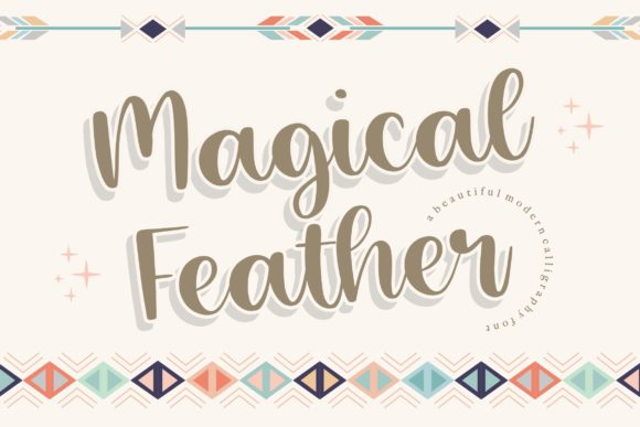 Print on Demand: Magical Feather Script & Handwritten Font By Balpirick