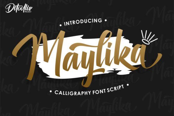 Print on Demand: Maylika Script & Handwritten Font By Ditoollis Project