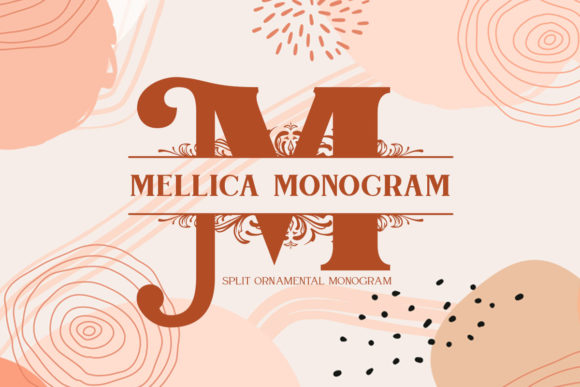 Print on Demand: Mellica Monogram Display Font By Monogram Lovers