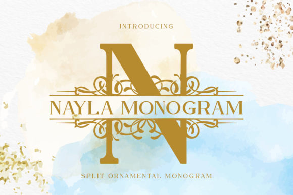 Print on Demand: Nayla Monogram Display Font By Monogram Lovers