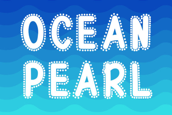 Print on Demand: Ocean Pearl Display Font By PearlyDaisy